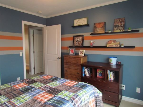 Best 4 Year Old Sons Sport Theme Bedroom Blue Walls With With Pictures