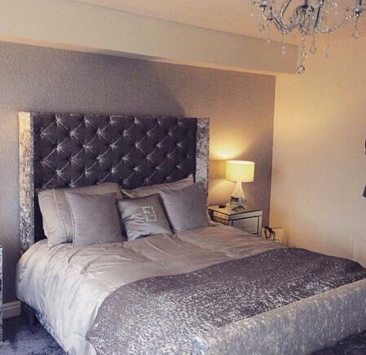 Best Silver Grey Crushed Velvet Bedroom Fabulousness With Pictures