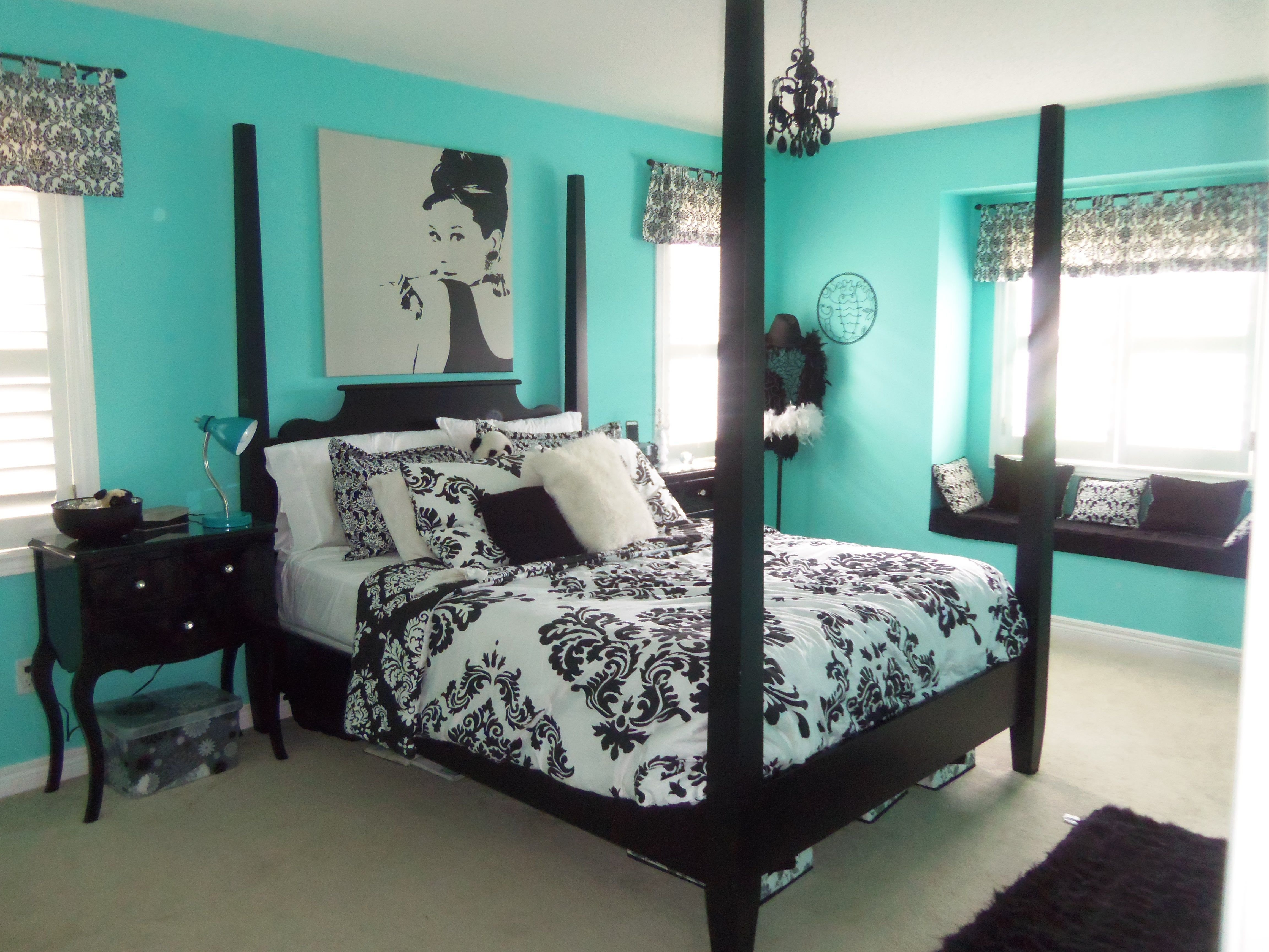 Best Elegant Teal And Black Bedrooms Furniture Elegant Girls With Pictures