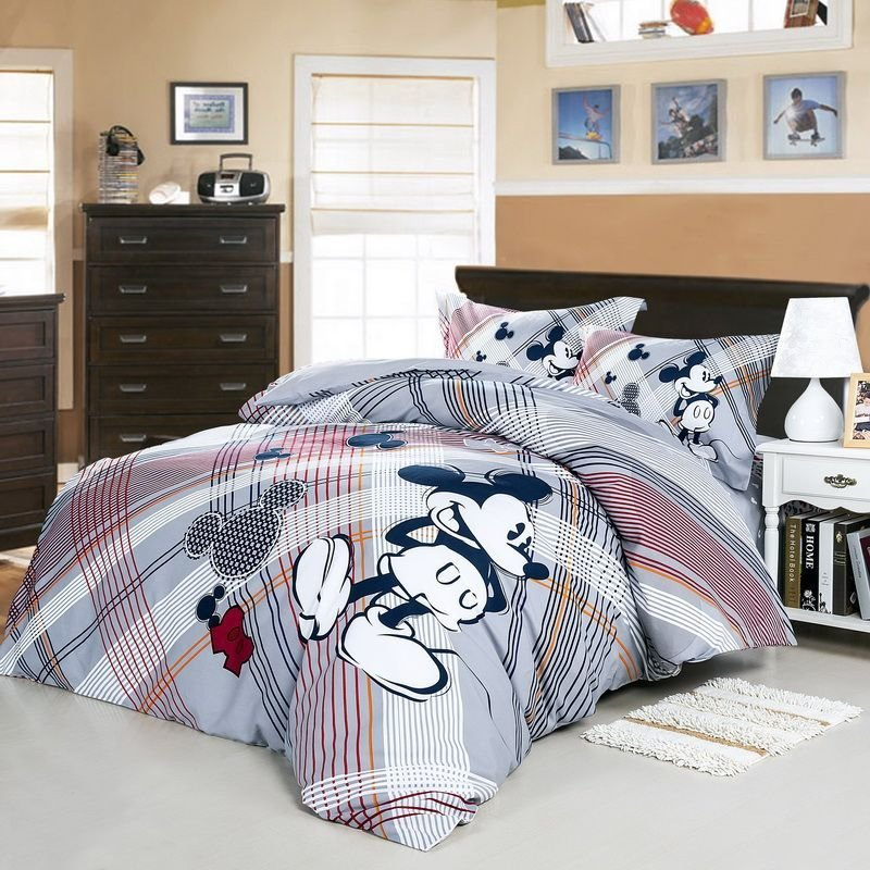 Best We Love Mickey Mouse Gray Disney Bedding Set Disney With Pictures