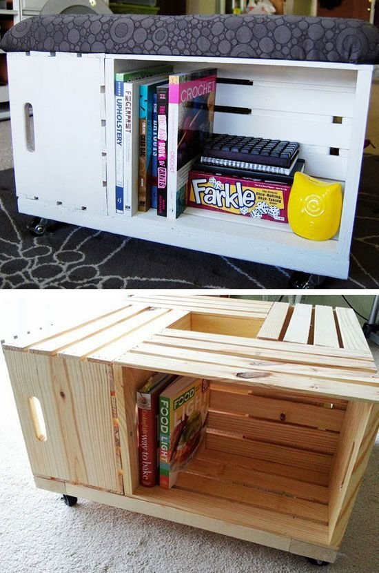 Best 12 Clever Space Saving Ideas For Small Bedrooms Diy Storage Ottoman Diy Storage And Diy Small With Pictures
