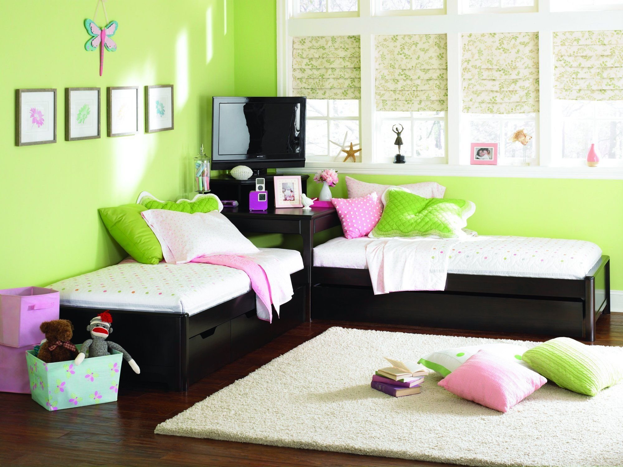 Best Twin L Shaped Platform Look Beds W Corner Unit Perfect With Pictures