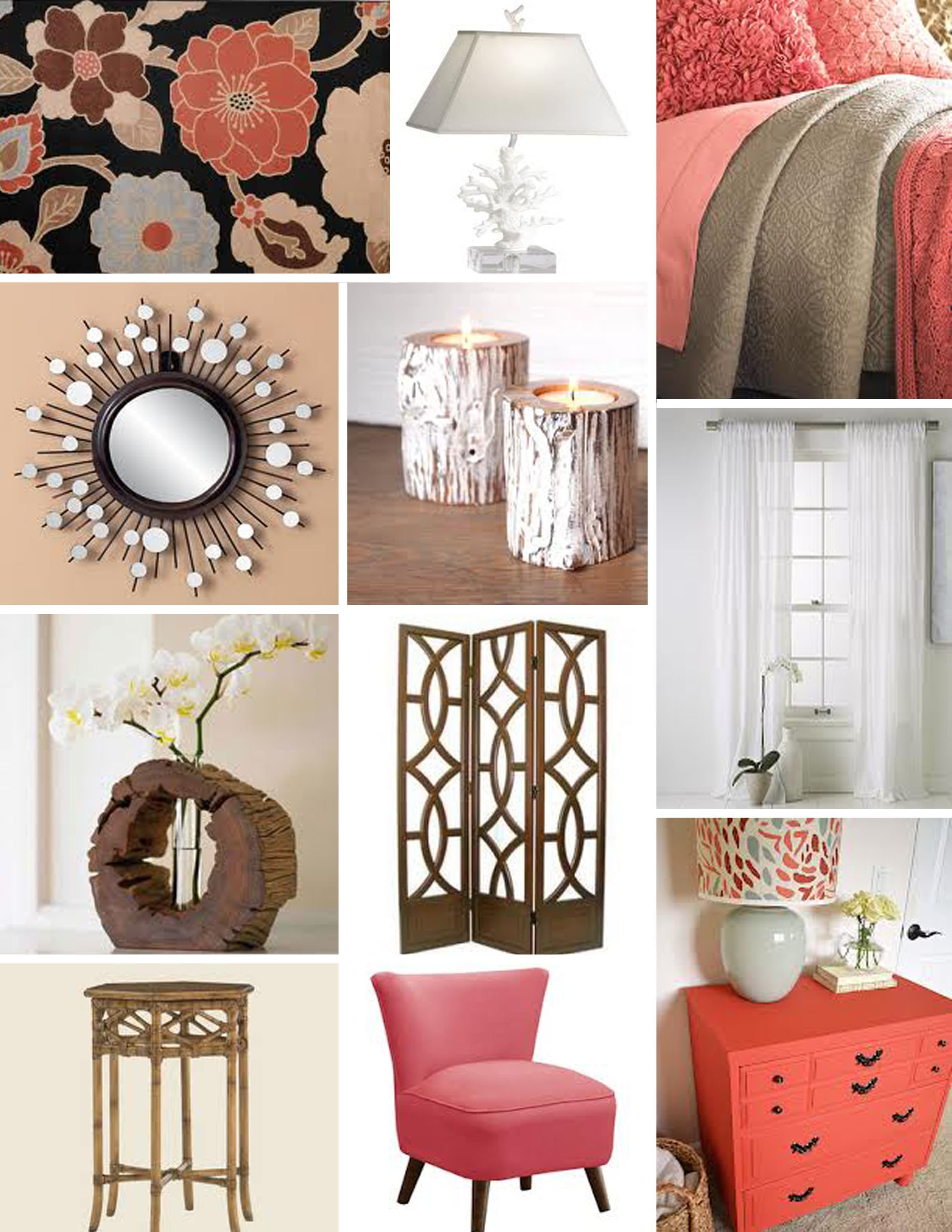 Best Tan And Coral Bedroom Decor With Wood Accents Rooms With Pictures
