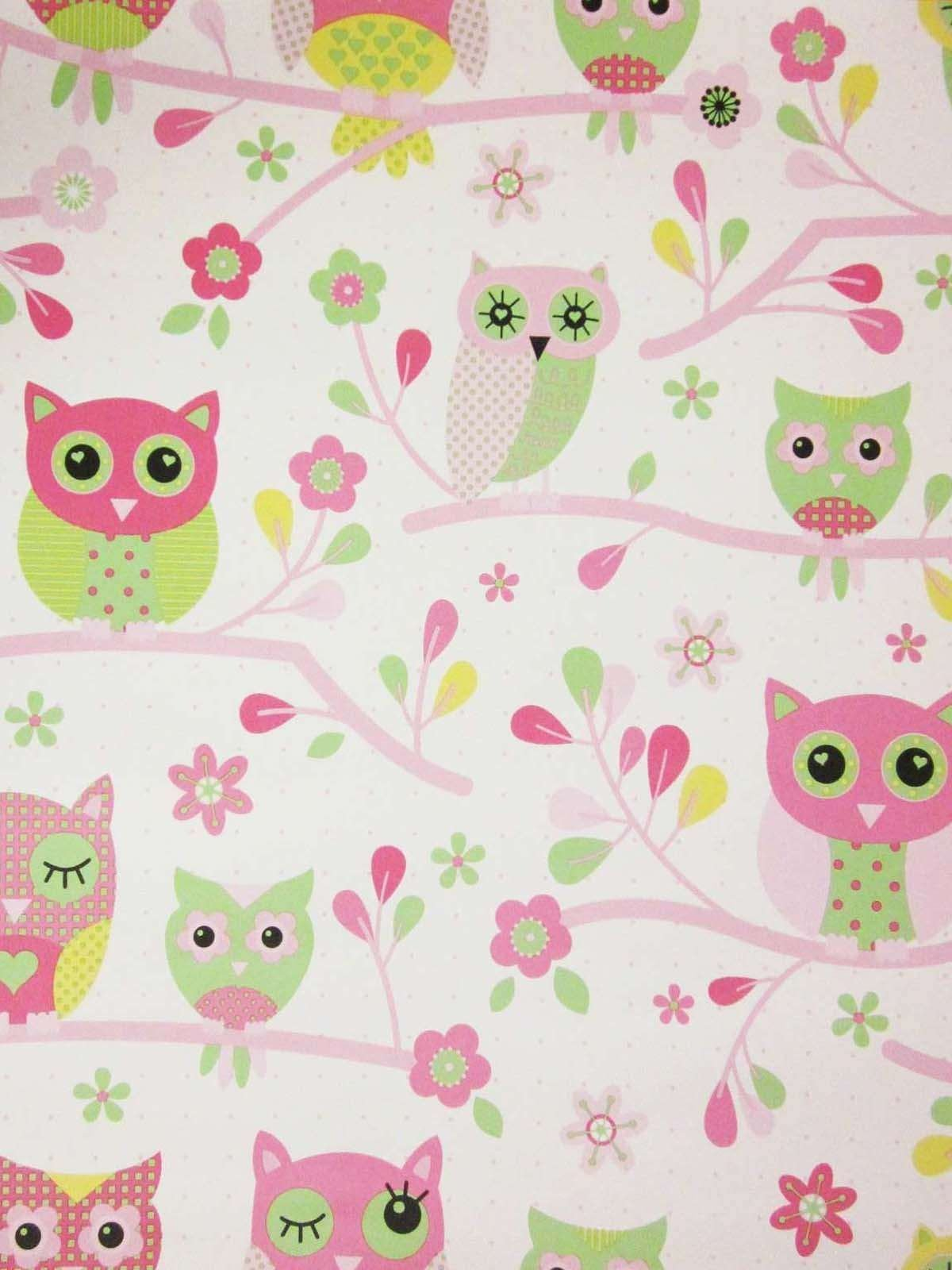 Best Country Owls Pink Wallpaper Izzy S New Bedroom Ideas With Pictures