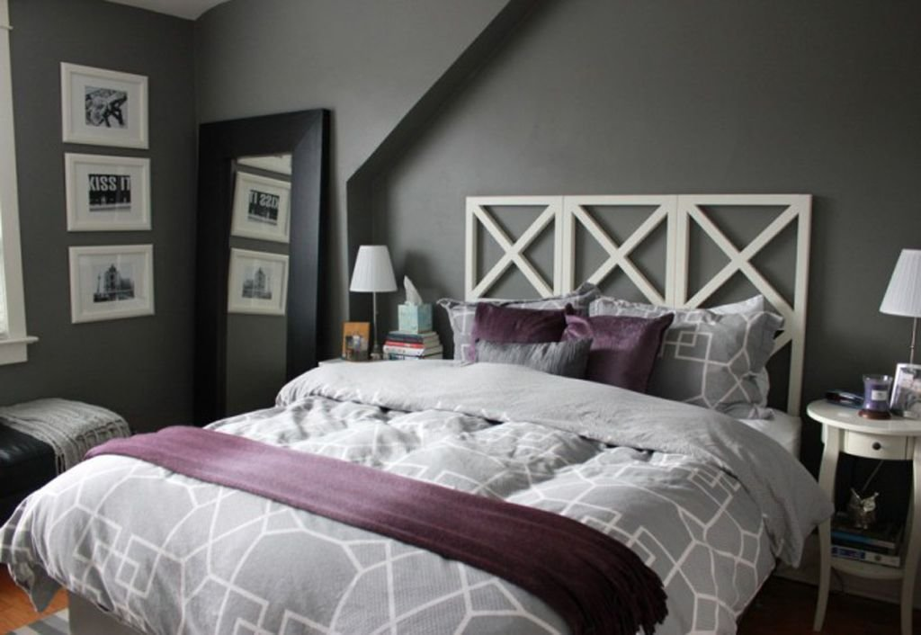 Best Gray And Purple Decorating Ideas Purple Gray Master With Pictures