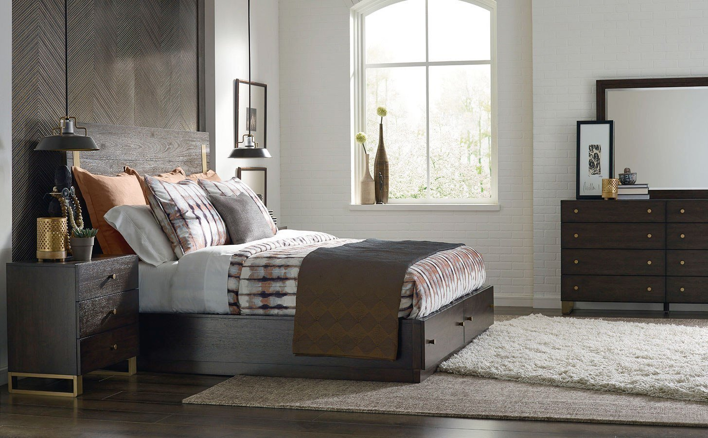 Best Austin Metal Accent Storage Bedroom Set By Rachael Ray With Pictures