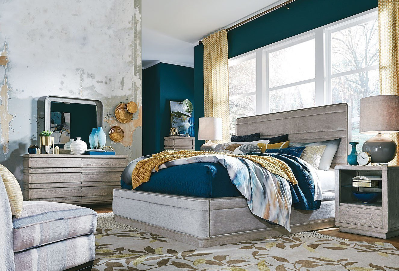 Best Pacifica Upholstered Bedroom Set By Magnussen Furniturepick With Pictures