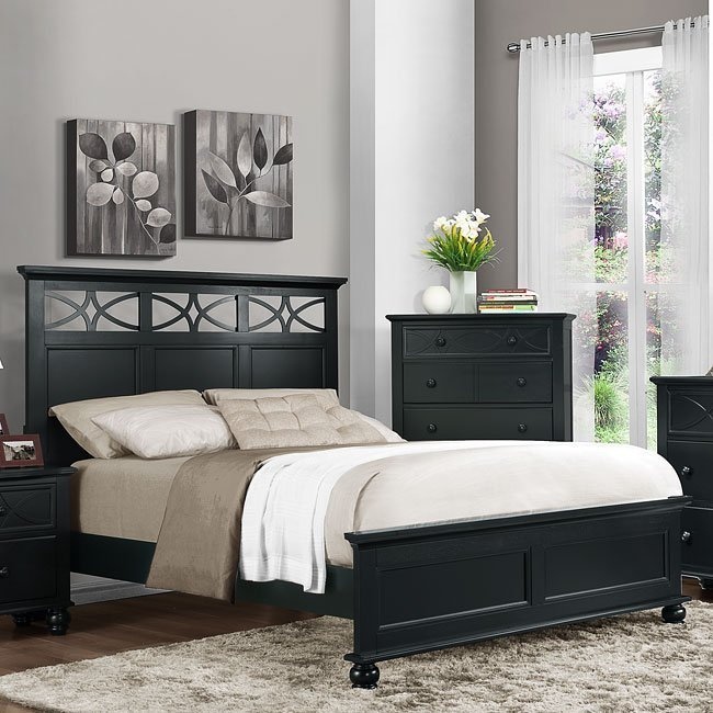 Best Sanibel Panel Bedroom Set Black Homelegance Furniture Cart With Pictures