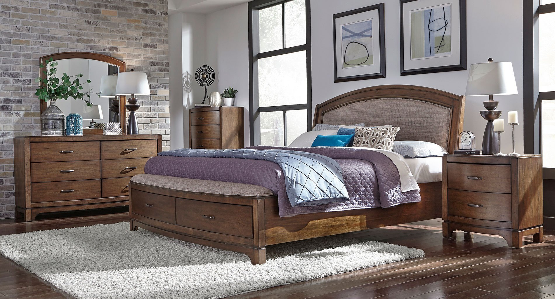 Best Avalon Iii Upholstered Storage Bedroom Set Liberty With Pictures