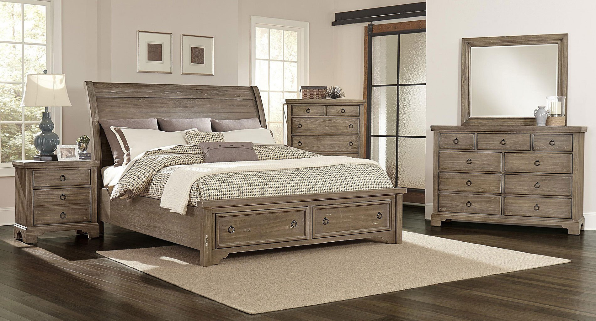 Best Whiskey Barrel Storage Bedroom Set Rustic Gray Vaughan Bassett 1 Reviews Furniture Cart With Pictures