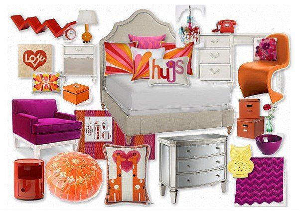 Best Orange And Purple T**N Bedroom By Margaretbearden Olioboard With Pictures