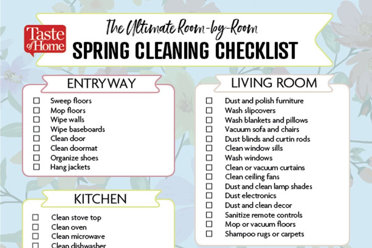 Best The Ultimate Room By Room Spring Cleaning Checklist With Pictures