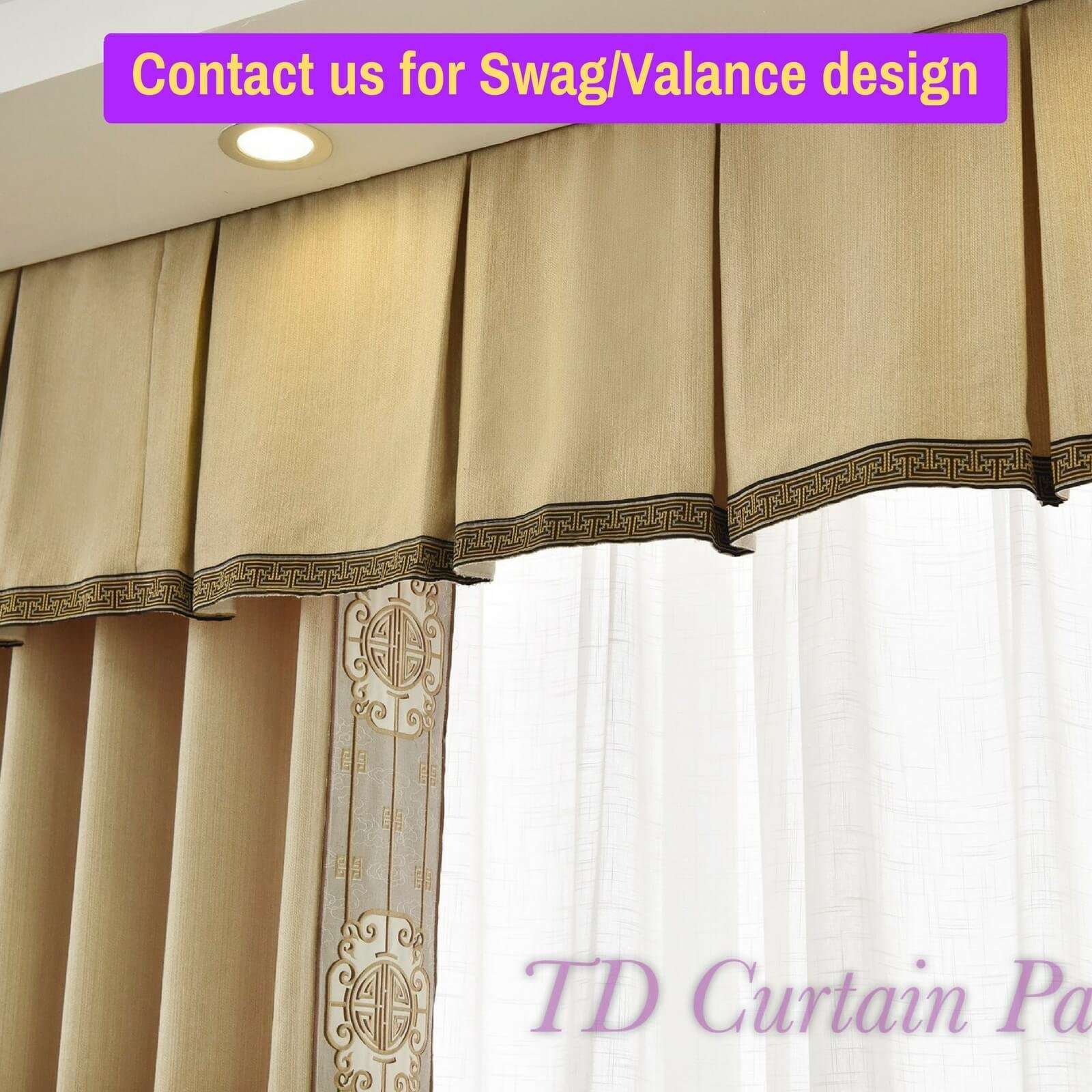 Best Blockout Swag Pelmet Valance Bedroom Door Sheer Curtain With Pictures