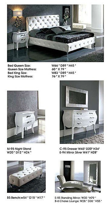 Best Nelly Contemporary Bedroom Set In White Leather By Dupen With Pictures