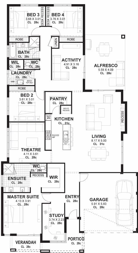 Best 4 Bedroom House Plans Home Designs Perth Vision One Homes With Pictures