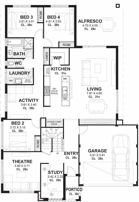 Best 4 Bedroom 2 Storey House Plans Designs Perth With Pictures
