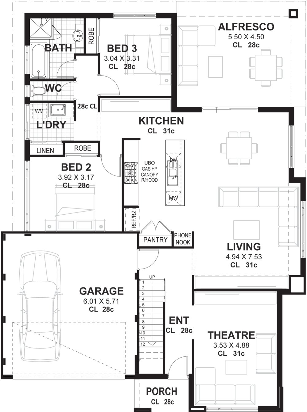 Best 3 Bedroom 2 Storey Home Designs Perth Vision One Homes With Pictures