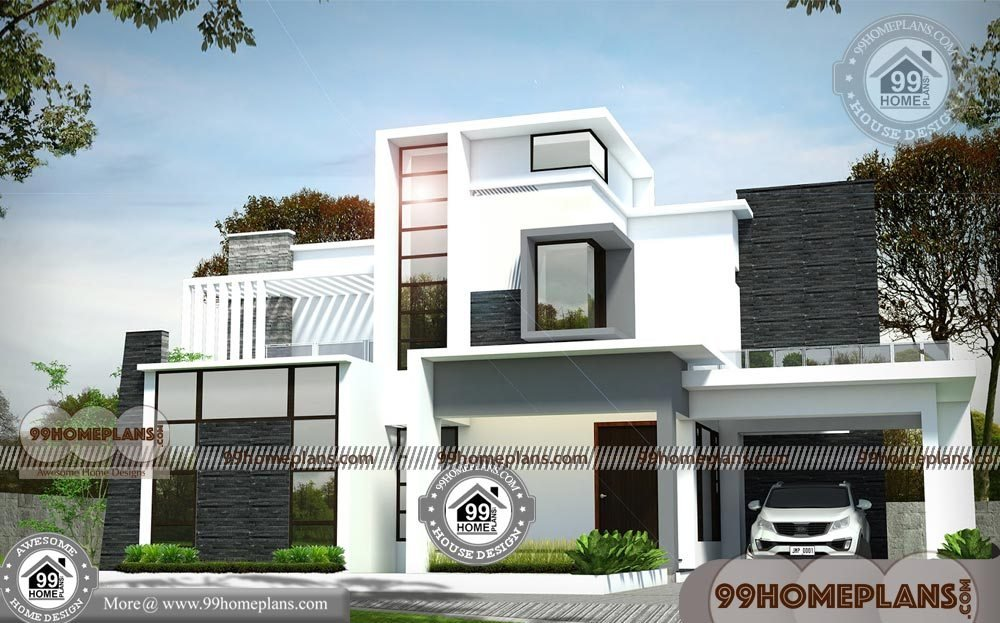 Best Small 4 Bedroom House Plans With Double Story Modern Arch With Pictures