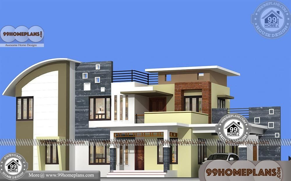 Best Low Cost 4 Bedroom House Plans With Two Story Modern Flat With Pictures