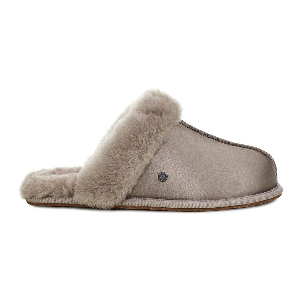 Best Buy Ugg® Women S Scuffette Ii Satin Slippers Elephant With Pictures