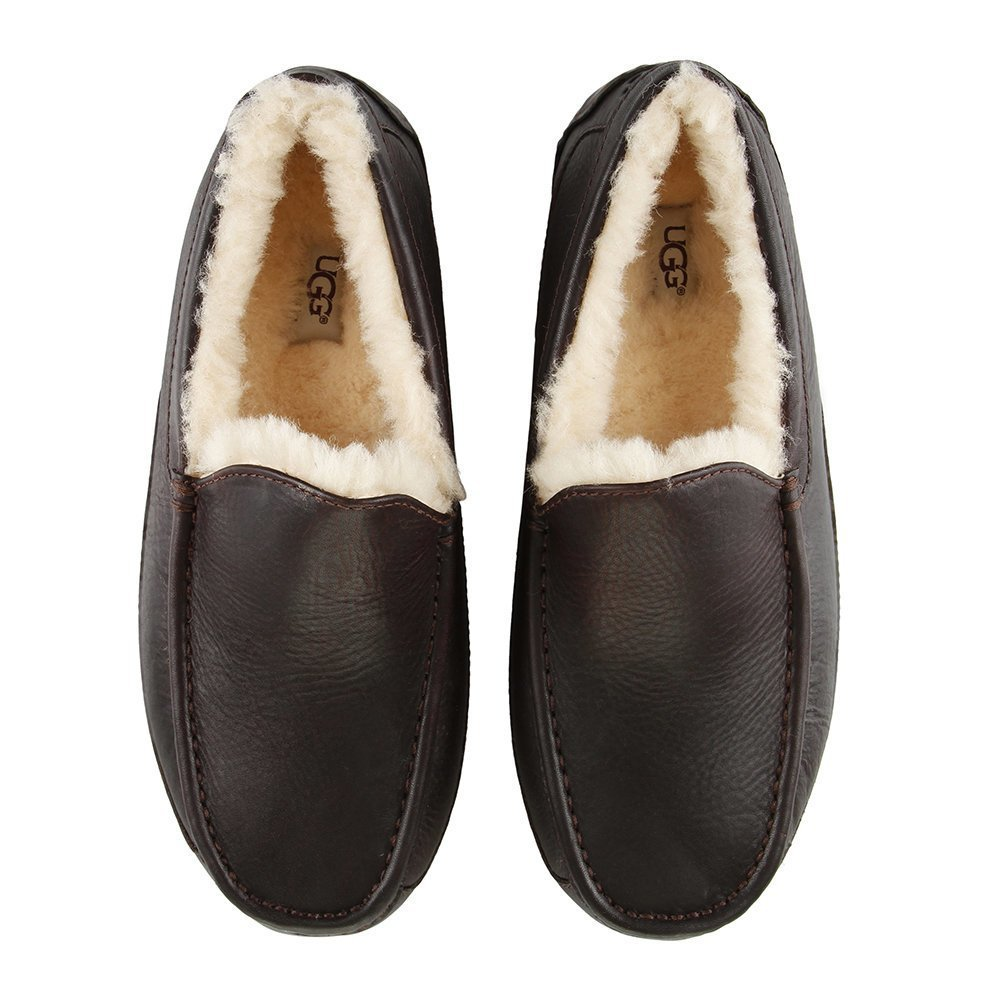 Best Buy Ugg® Men S Ascot Slippers China Tea Amara With Pictures