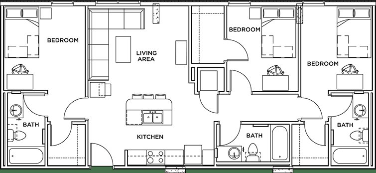 Best 3 Bed 3 Bath Apartment Wait List The Callaway House With Pictures