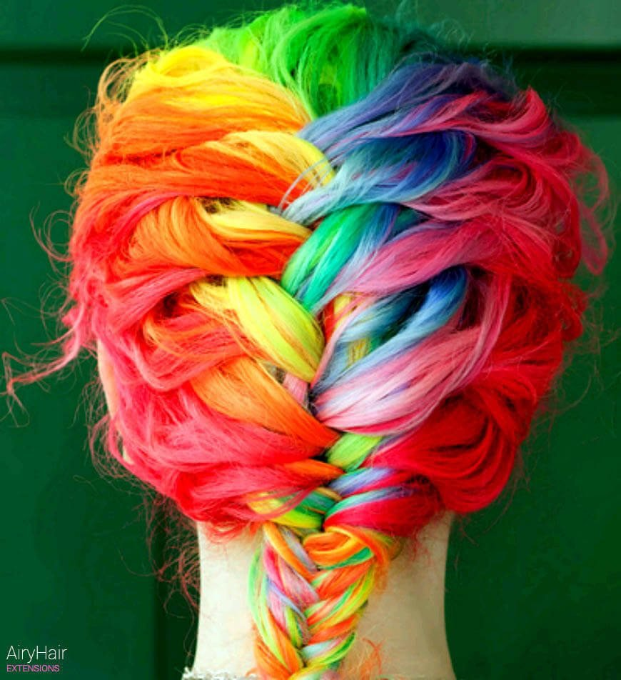Free 20 Crazy Rainbow Hair Extensions Hair Color Ideas For 2019 Wallpaper