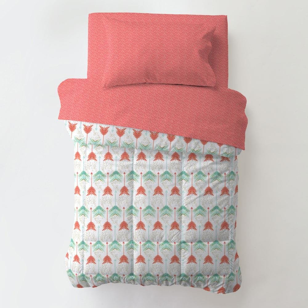 Best Coral And Teal Arrow Toddler Bedding Carousel Designs With Pictures