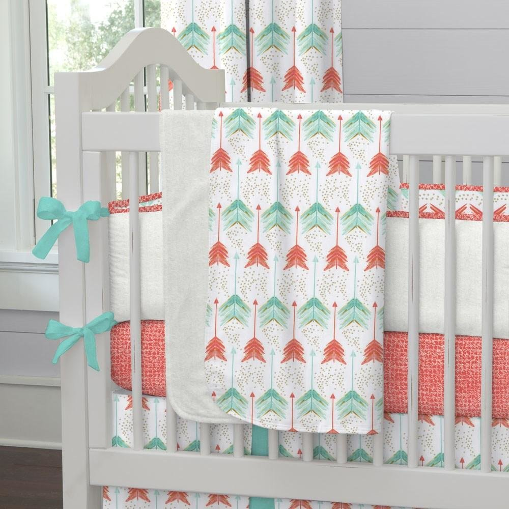 Best Coral And Teal Arrows Fabric By The Yard Coral Fabric With Pictures