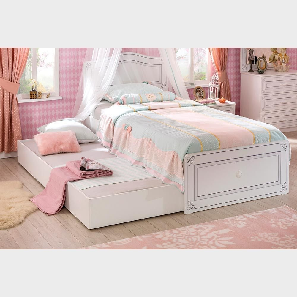 Best Single Bed With Trundle A Modern Girls Bedroom Furniture With Pictures