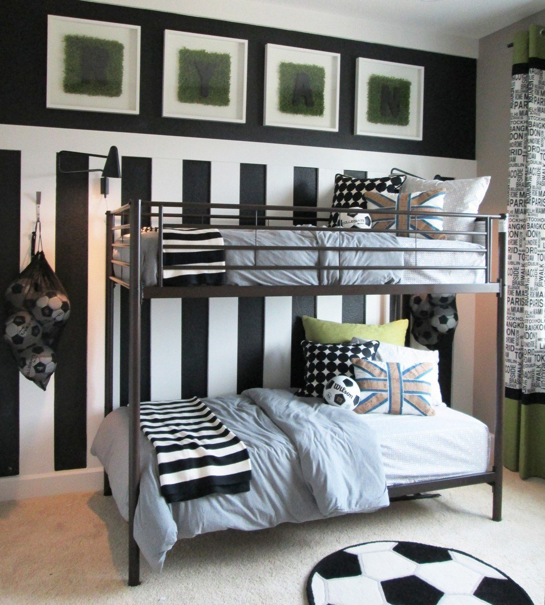 Best Stylish Soccer Themed Bedroom Design For Boys 5 Decomagz With Pictures