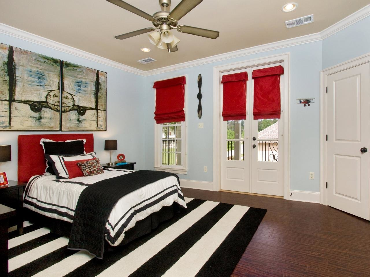 Best Designing Red And White Bedrooms Decorating Room With Pictures