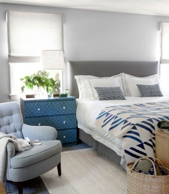 Best 47 Beautiful Blue And Gray Bedrooms Digsdigs With Pictures