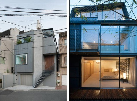 Best Japanese Townhouse With An Outdoor Deck On The Roof And A With Pictures