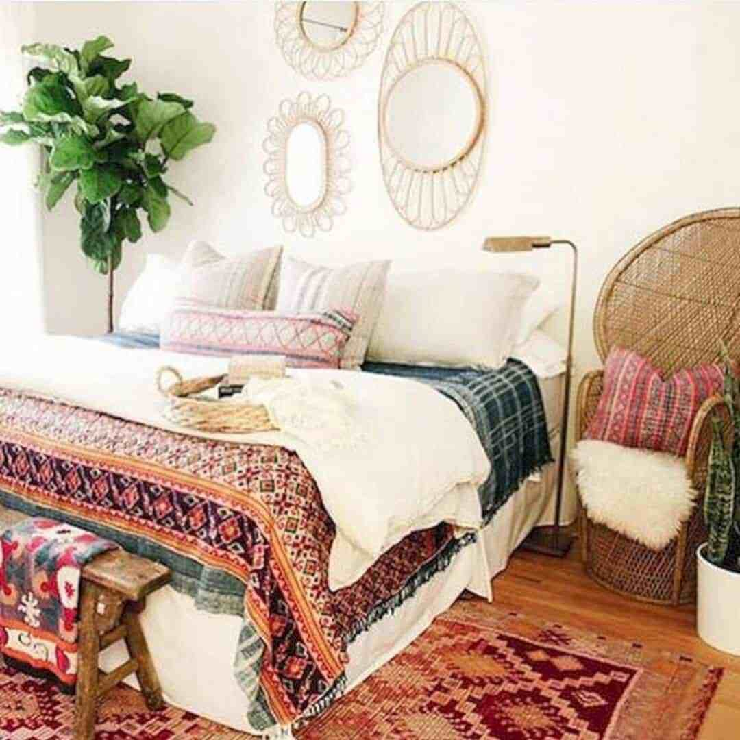 Best 57 Adorable Bohemian Style Bedroom Decor Inspirations With Pictures