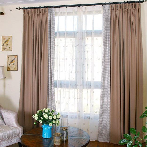 Best Modern Houndstooth Solid Noise Reducing Bedroom Curtains With Pictures