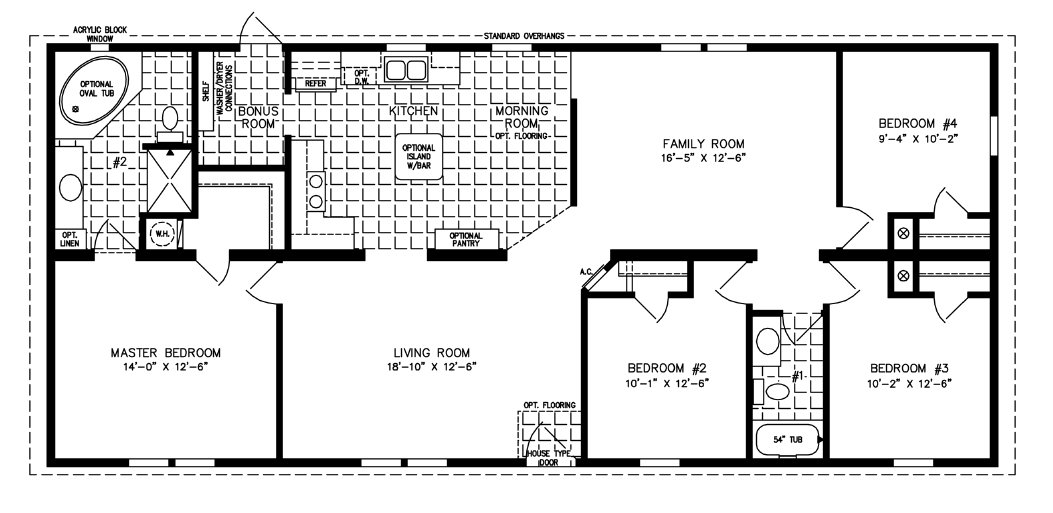 Best 1600 To 1799 Sq Ft Mobile Home Floor Plans Jacobsen Homes With Pictures