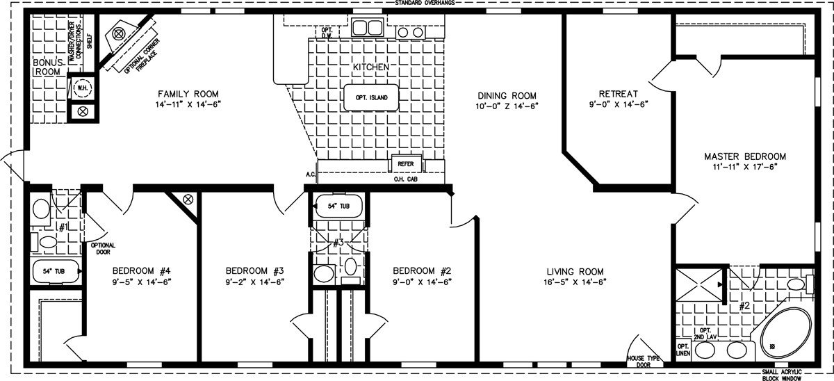 Best Four Bedroom Mobile Home Floor Plans Jacobsen Homes With Pictures