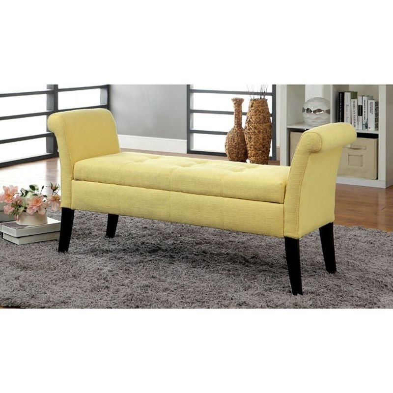 Best Doheny Yellow Storage Bench Jack S Warehouse With Pictures