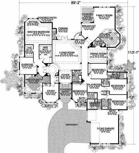 Best Florida House Plan 5 Bedrooms 4 Bath 5131 Sq Ft Plan 37 131 With Pictures