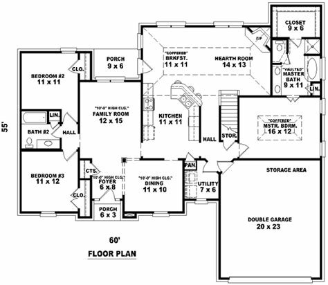 Best Traditional House Plan 3 Bedrooms 2 Bath 1900 Sq Ft With Pictures