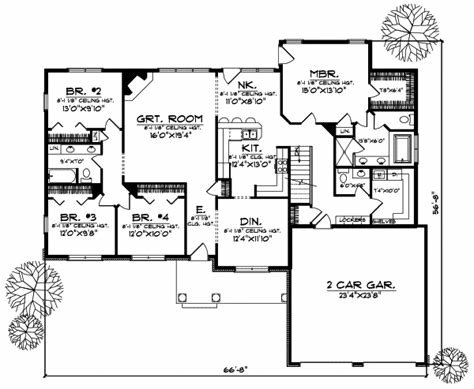 Best Ranch House Plan 5 Bedrooms 3 Bath 3312 Sq Ft Plan 7 544 With Pictures