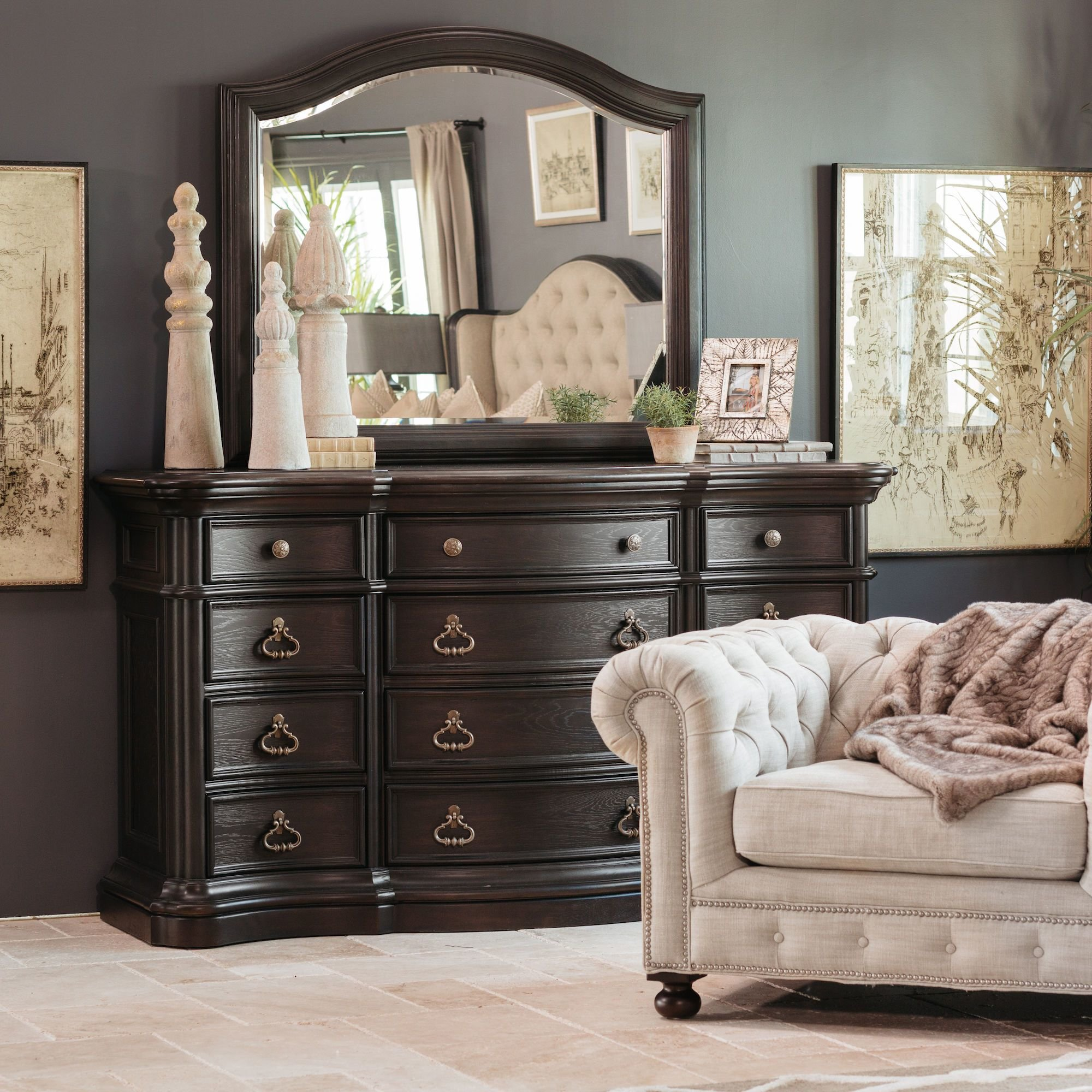 Best Four Piece Refined Romantic Luxury Bedroom Set In Brown With Pictures