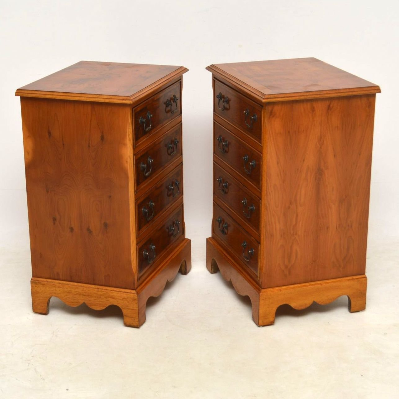 Best Pair Of Antique Yew Wood Bedside Chests Marylebone Antiques – Sellers Of 19Th Century Antique With Pictures