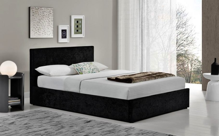 Best Berlin Bedroom Furniture 1 Berlin Black Crushed Velvet With Pictures
