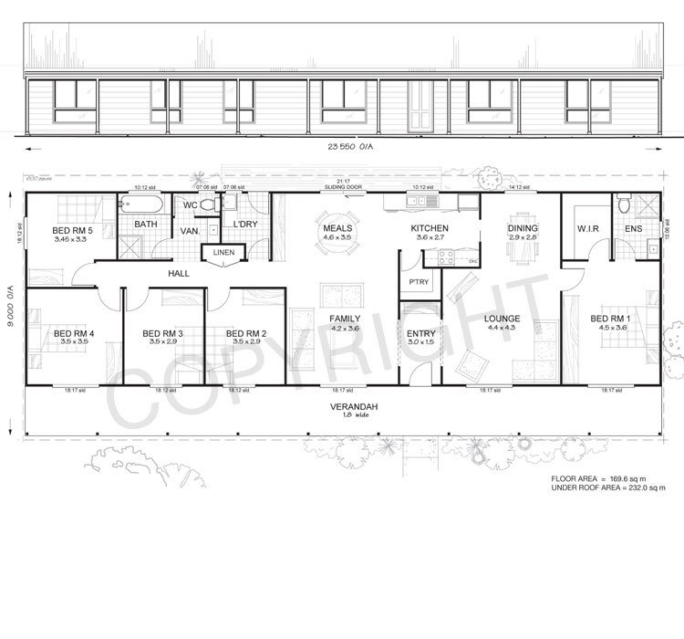 Best Daintree 5 Met Kit Homes 5 Bedroom Steel Frame Kit Home Floor Plan Met Kit Homes With Pictures Original 1024 x 768