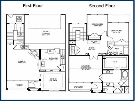 Best 2 Storey House Plans With Attached Garage — Awesome Simple With Pictures