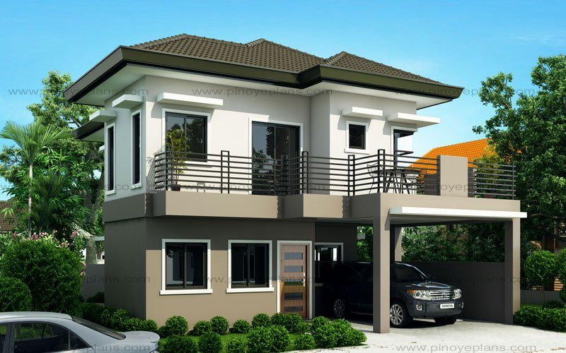 Best Sheryl Four Bedroom Two Story House Design Pinoy Eplans With Pictures