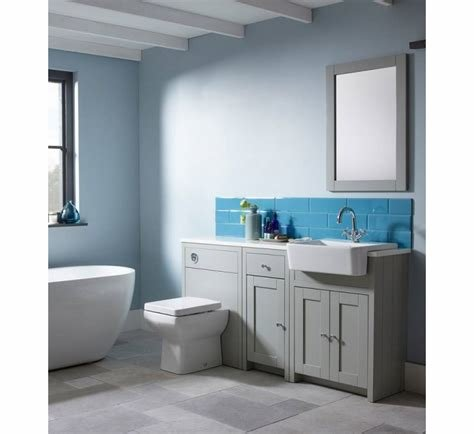 Best Tavistock Lansdown Fitted Furniture 5 Piece Bathroom Suite Pebble Grey With Pictures