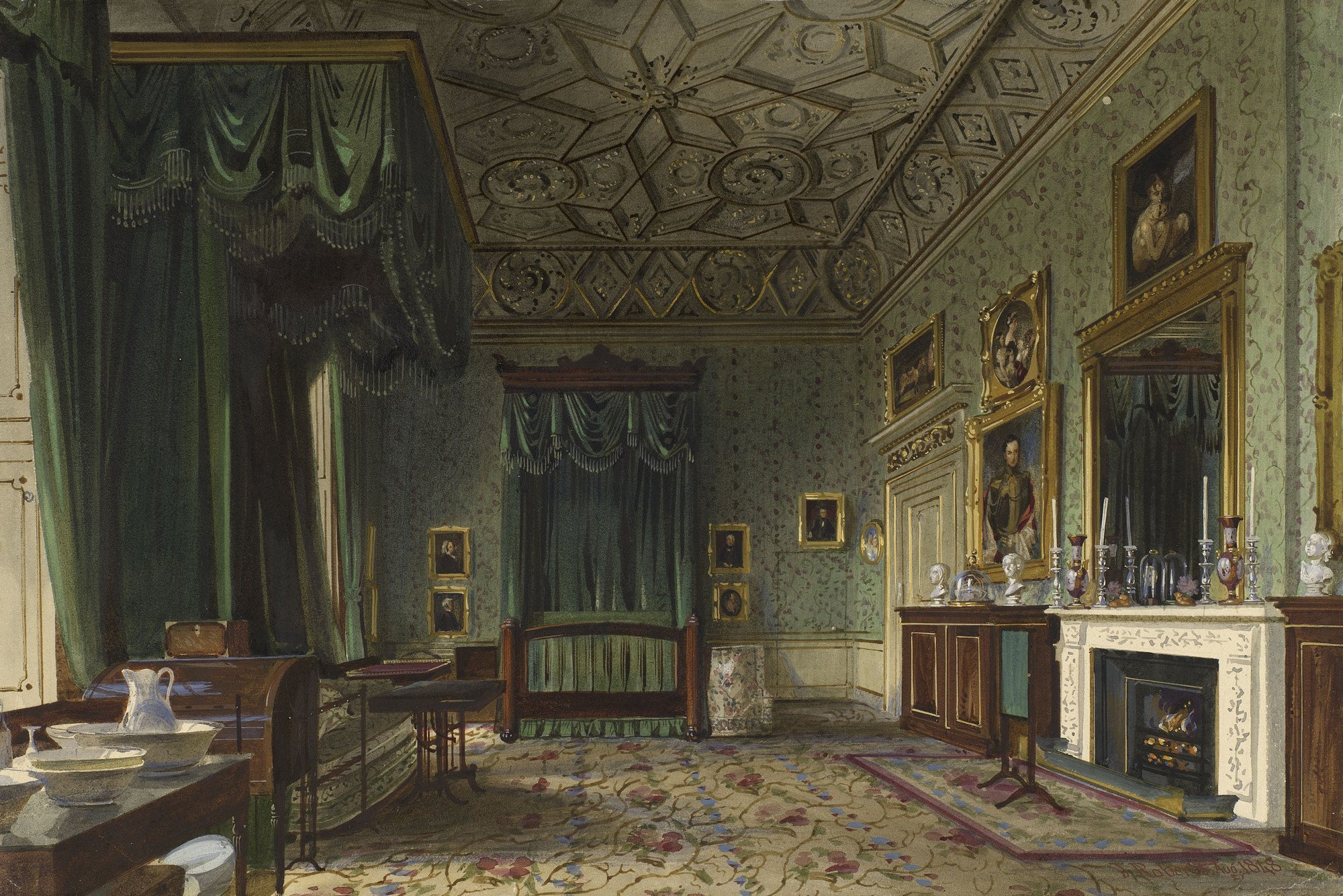 Best James Roberts C 1800 67 Buckingham Palace The Queens Bedroom With Pictures